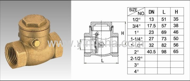 1/2~ 2Brass Sewing Check Valve