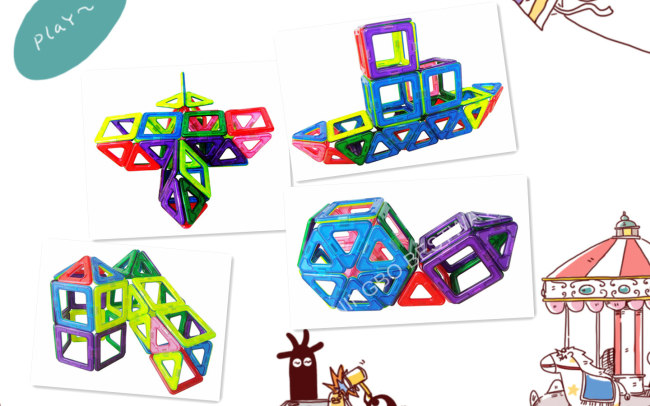 36pcs Magic Magnetic Magforner Children ToyDIY Games