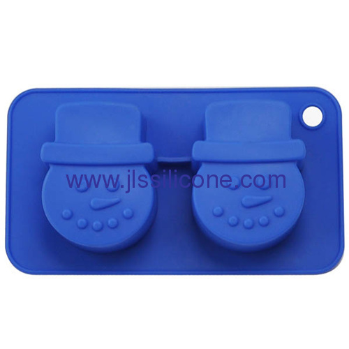 2 cup snow man shaped bakeware silicone cake baking molds