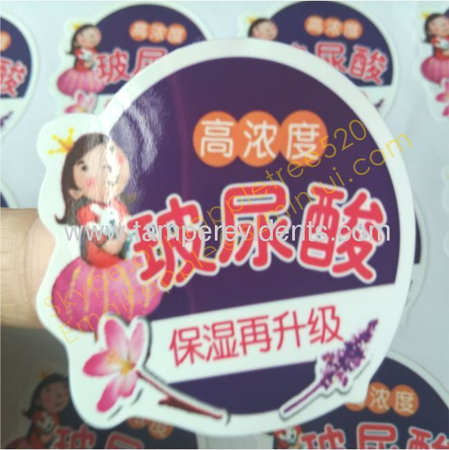 Custom printing pvc labels for warningsingle color printed round pvc stickerwaterproof and