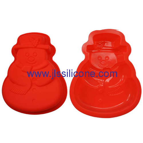 single snowman shaped bakeware silicone muffin cake baking molds
