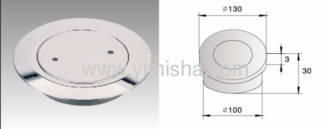 CircularBrass Chrome Plated Floor Drain with Clean Out