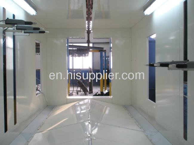 aluminum profiles paint spray unit
