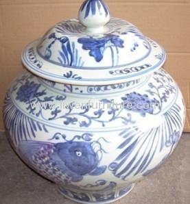 China ceramic Jar blue and white