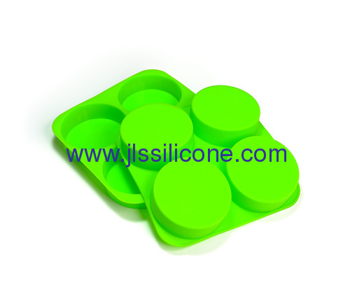 4 cup round shaped silicone bakeware cake baking molds