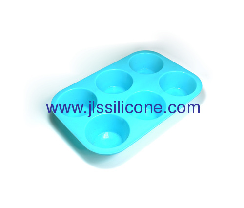 6 cup round shaped silicone bakeware cake baking molds