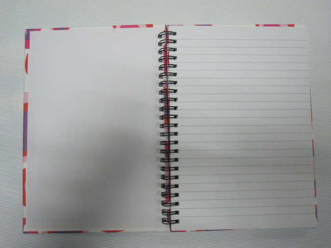 A5 3 subject hardcover double spiral notebook college ruled