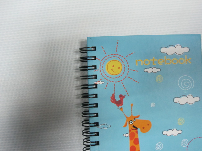 cute A6 4 subject college ruled hardcover notepad/notebook