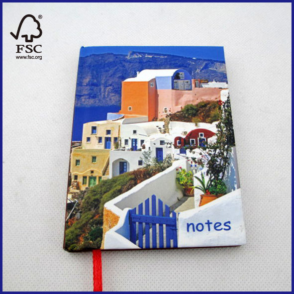 landscape cover mini hardcover notebook