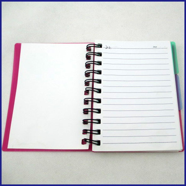 circle die cut spiral notebook