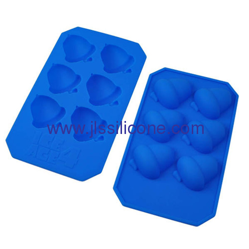 pine nut shaped silicone chocolate and ice maker molds wiht 6 cavities