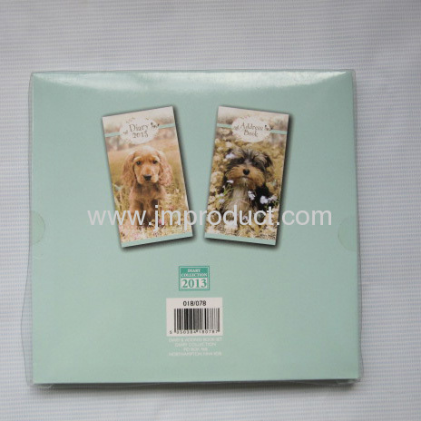 diary & address book gift set with paper box