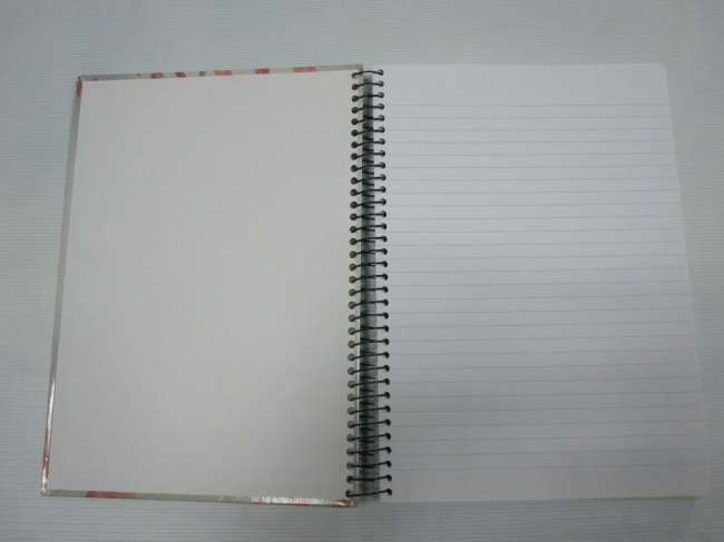 A4 3 subject hardcover spiral notebok college ruled 200 sheets