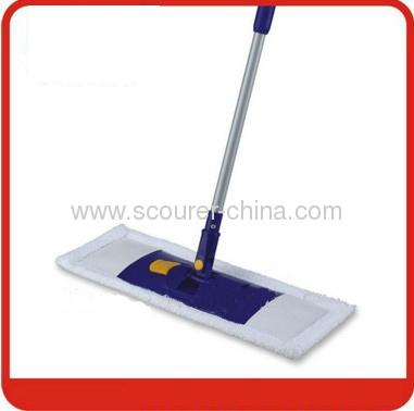 Telescopic aluminum handle Microfiber Flat Floor Mop for cleaning
