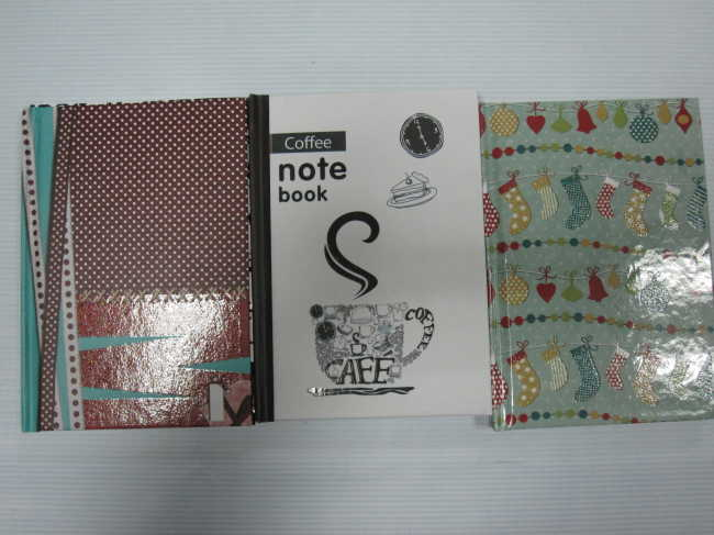 A6 3 subject college ruledhardbound notepad/notebook