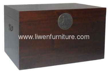 antique reproduction furniture trunk