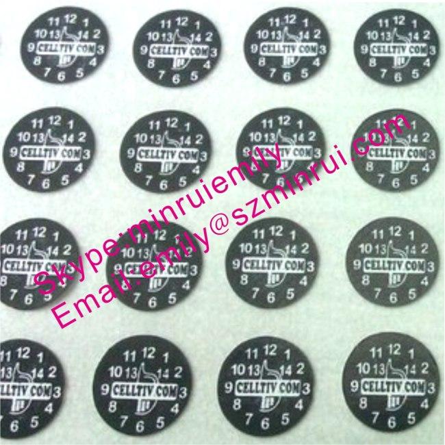 Custom Black Round Warranty Stickers With Your Logo From