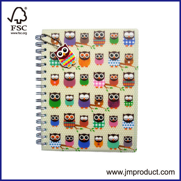PP cover spiral notebook