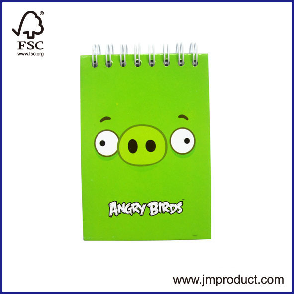 customized spiral note book