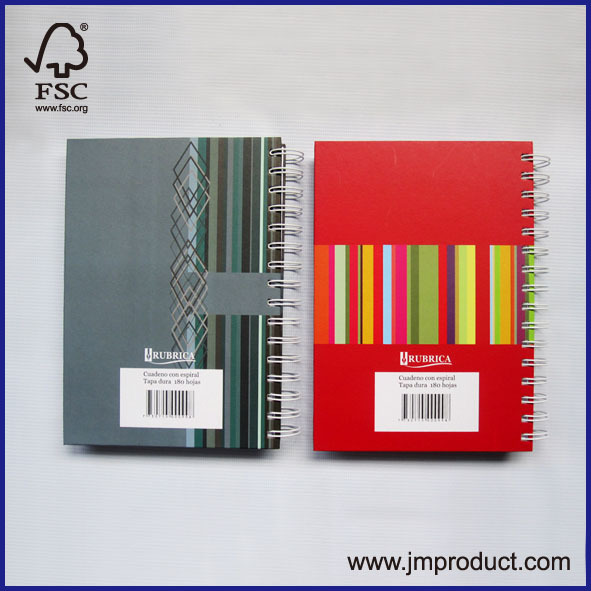 lines cover spiral notebook
