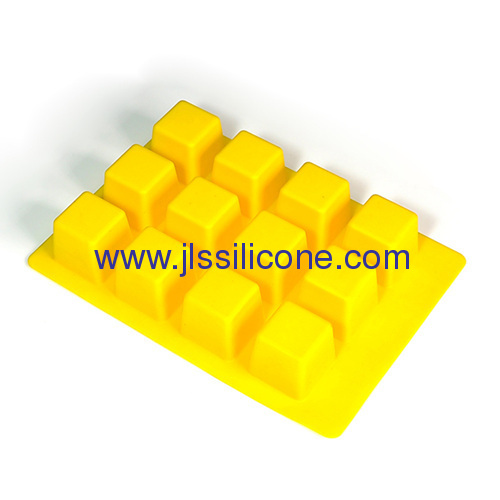 traditional squre ice maker molds silicone ice cube tray with 12 cavities