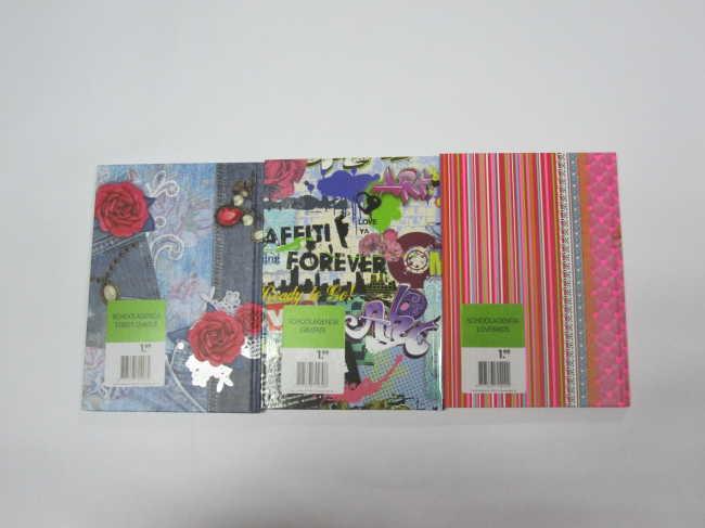 A5 3 subject hardcover hardbound notebook/agenda/planner