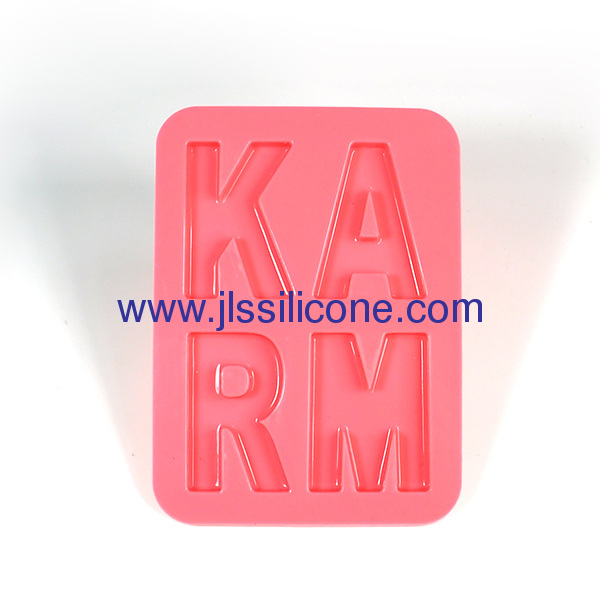 Letters silicone ice cube tray and ice maker molds
