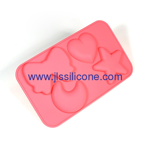 silicone ice maker mold in moon and star shape