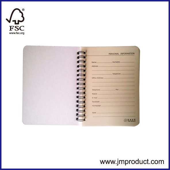 round corner Promotion double wires notebooks