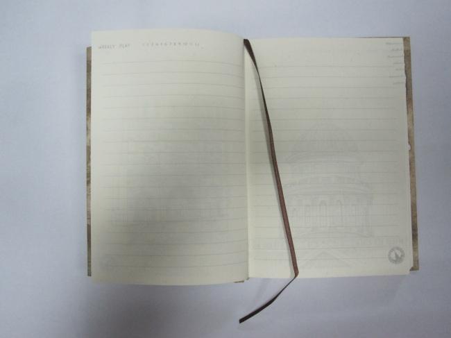 2 subject hardbound round back diary/notebook