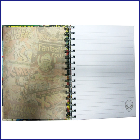 A5 4 subject hardcoverspiral notebook college ruled with elastic
