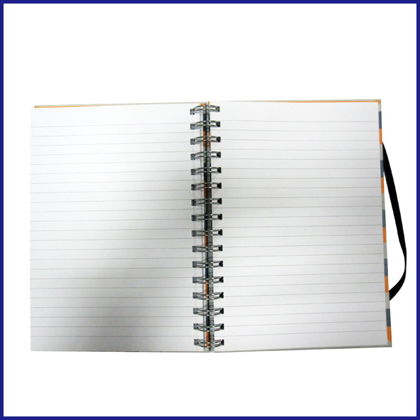 hot sale B5 3 subject hardcover spiral notebook college ruled with elastic
