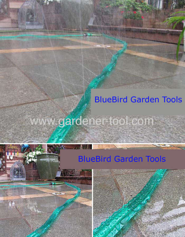 Garden Water Hose Pipe As Soaker Hose To Irrigate Plant or Seedling.