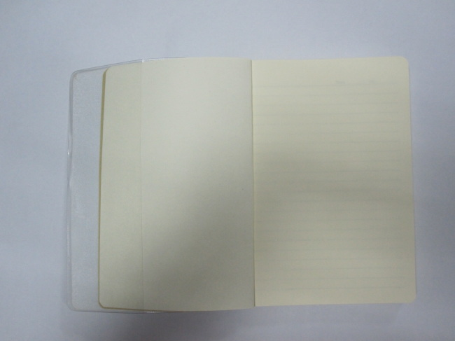 A6 2 subject college ruled PP softcover notepad/diary