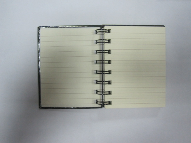 small hardcover spiral notepad/stenopad college ruled