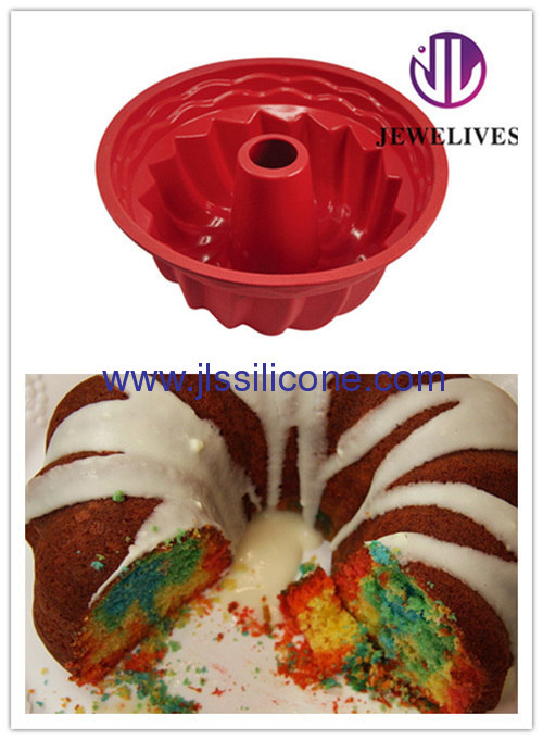 hot red bakeware silicone budnt cake molds