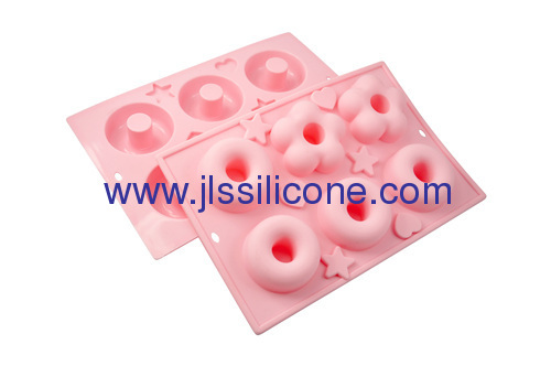silicone baking molds for cake with 6 cavities
