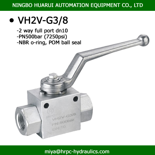 female bsp thread 2 way full port stainless steel ball valves high pressure 500bar
