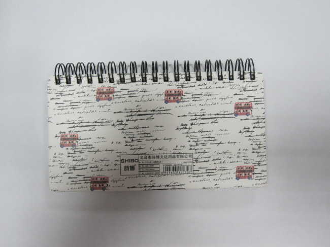 single subject cute hardcover spiral notebook/scrachpad