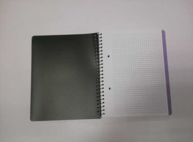 4 subject A5 PP cover spiral notebook with cutting line