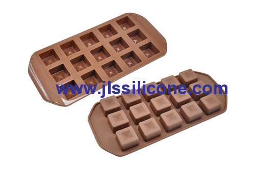 15 cativies silicone chocolate molds in square shape