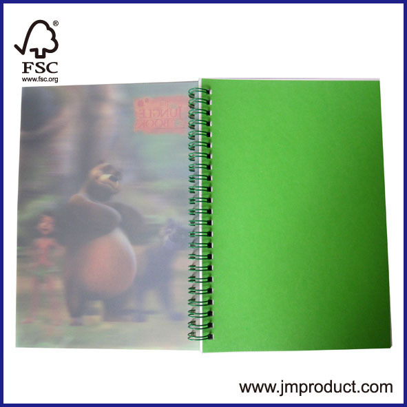high quality 3D spiral notebook