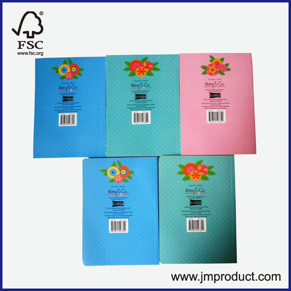 3 subjects glue notebook