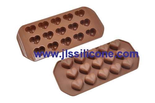 silicone chocolate candy heart mold
