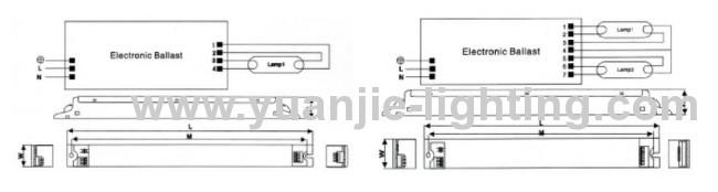 PLC 36W electronic ballast