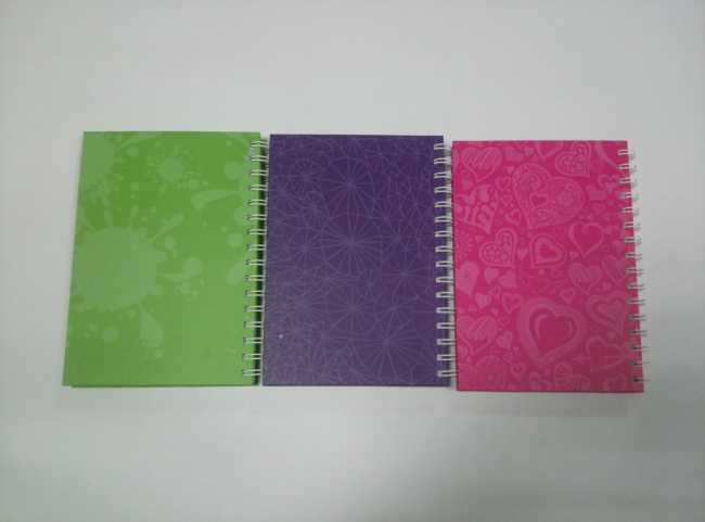 A5 3 subject hardcover spiral notebook college ruled
