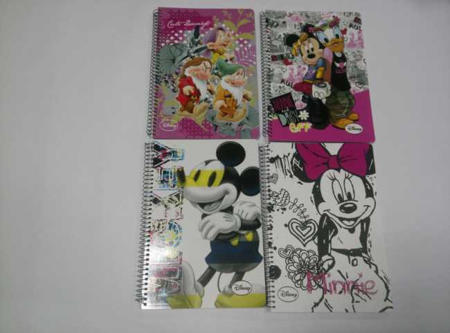 A4 5 subject hardcover spiral notebok college ruled for DISNEY