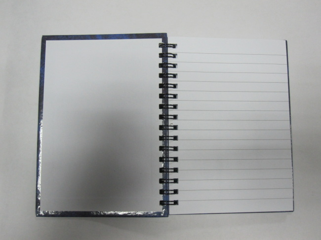 A6 4 subject college ruled hardcover notepad/notebook