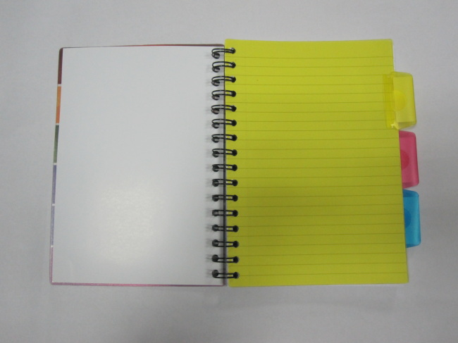 A5 PP cover project/index notebookcollege ruled