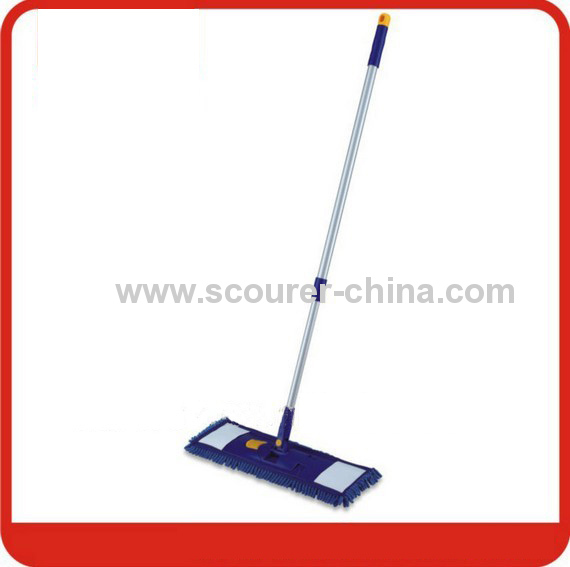 Chenille Flat Mop with Synthetic Cloth Mop Head